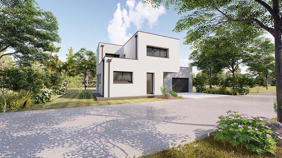 Maison moderne à Nouvoitou